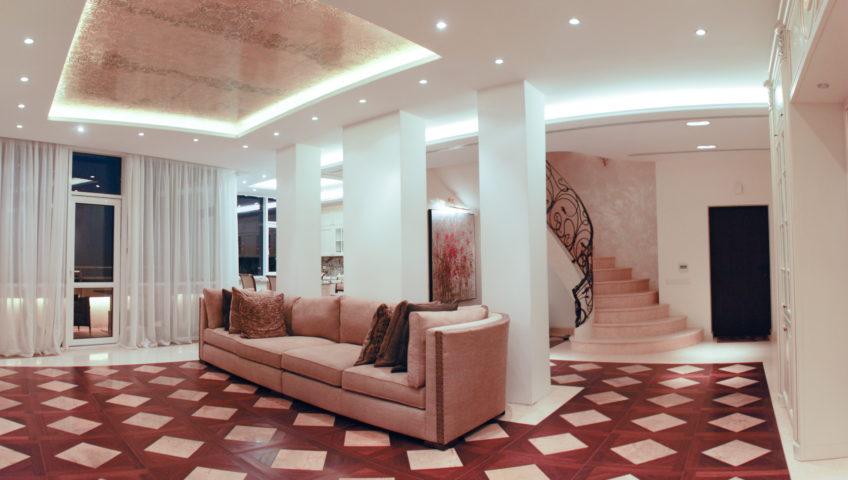 Панорамная двухъярусная квартира 1 - Реализованные проекты